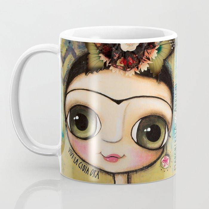 Frida Kahlo and the white coat Coffee Mug