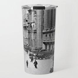 Vintage Wall Street NYC Photograph (1921) Travel Mug