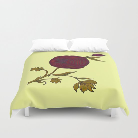 simple decorative pomegranate 3 Duvet Cover