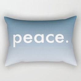 blue gradient - peace  Rectangular Pillow
