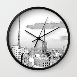 Sao Paulo -Art Wall Clock