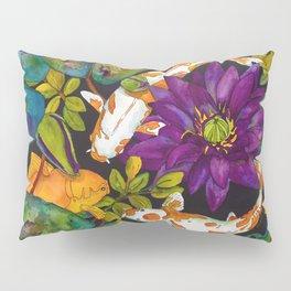 Purple Lily and Koi Fish Pillow Sham