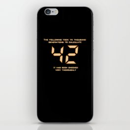 42: The Answer iPhone Skin