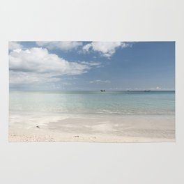 Dream beach Sea Ocean Summer Maritime Navy Rug