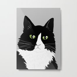 Henri the Existential Cat Metal Print