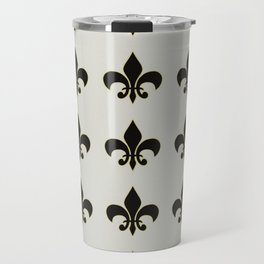 Fleur de lis.... ivory,gold and black Travel Mug