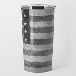 USA flag - Grayscale high quality image Travel Mug