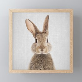 Rabbit - Colorful Framed Mini Art Print