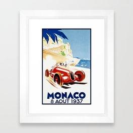 Monaco 1937 Grand Prix Framed Art Print