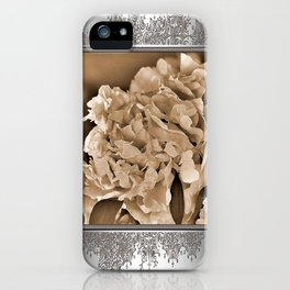 Peony named Shirley Temple iPhone Case