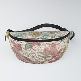 Antique Astrology Zodiac Pictorial Map of Aries Fanny Pack