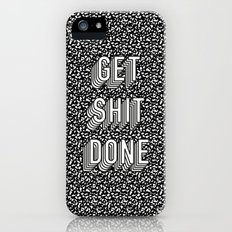 Get Shit Done Memphis Static iPhone (5, 5s) Slim Case