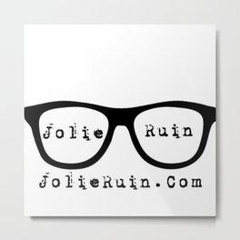 Jolie Ruin glasses Metal Print