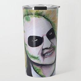 Beetle juice Acrylic Painting Travel Mug