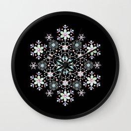 Snowflake Mandala Wall Clock