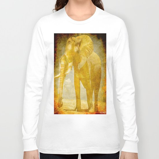 The elephant under a sandstorm Long Sleeve T-shirt