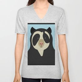 Spectacled bear Unisex V-Neck