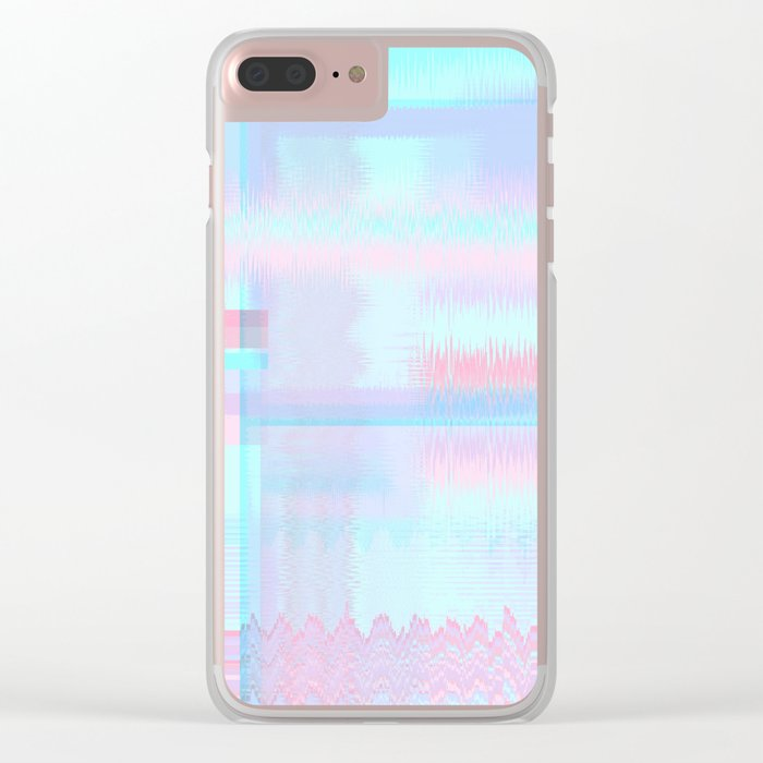 Distorted signal 04 Clear iPhone Case