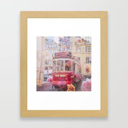 Floral Lisbon Framed Art Print