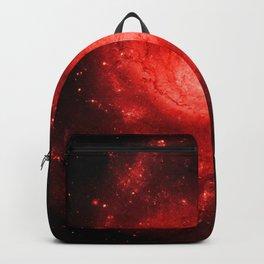 Pinwheel Galaxy Deep Red Backpack