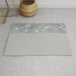 Silver Icing Sparkles Rug