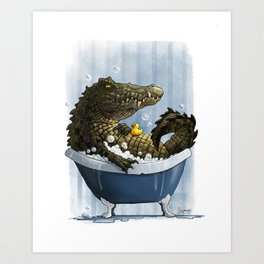 Bubble Bath Art Print