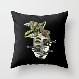 protection for fake strong heart Throw Pillow