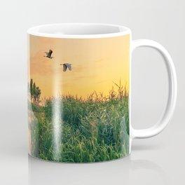 Summer dawn on a small river Coffee Mug