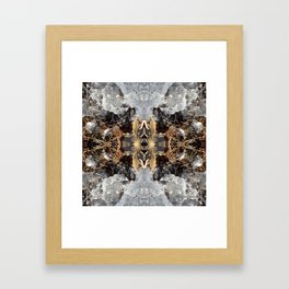 Diamond Ice Frozen Autumn - Debra Cortese photo art Framed Art Print