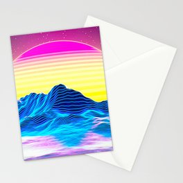 Vaporwave Sunset Stationery Cards