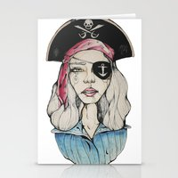 pirate Stationery Cards featuring Pirate by Bruno Gonçales
