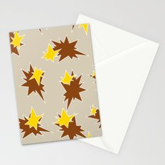 Stars (Brown & Gold on Sand) Stationery Cards