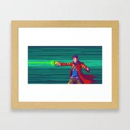 Blasting Hero Framed Art Print