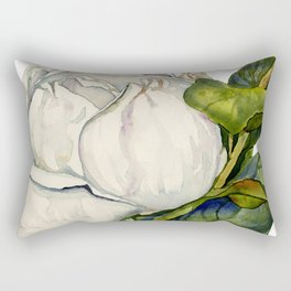 Magnolia with Leaves Rectangular Pillow