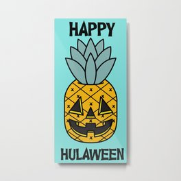 Pineapple Lantern Metal Print