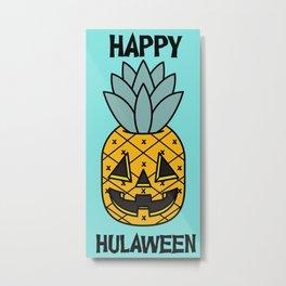 Pineapple Lantern Metal Print