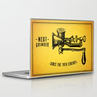 meat Laptop & iPad Skins featuring Meat Grinder by UiNi