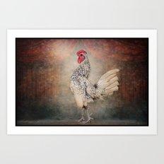La Prima Ballerina in Hen Lake Art Print
