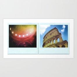 Rome, Italy Polaroids Art Print