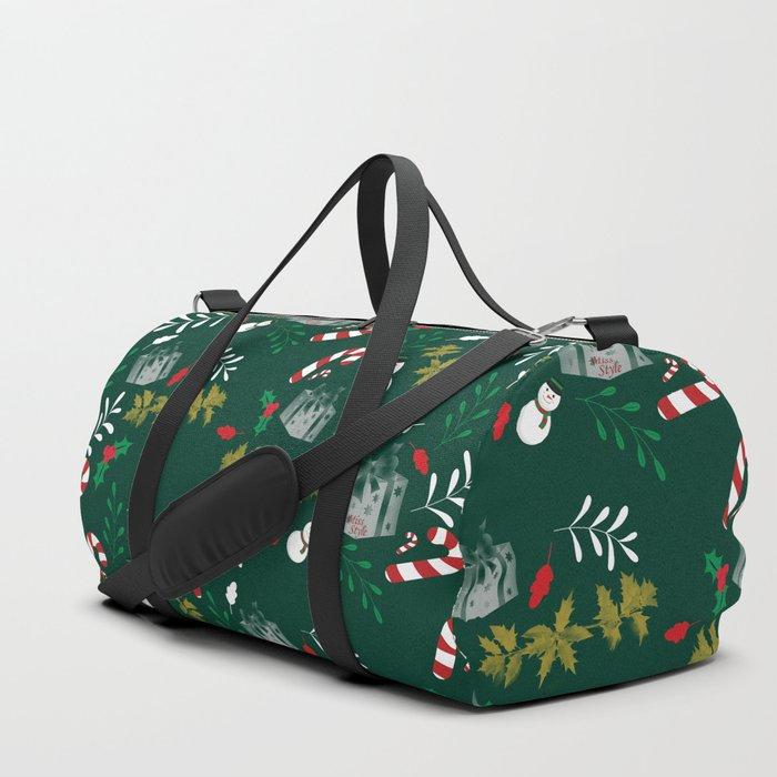 Pattern Green Christmas18 Duffle Bag
