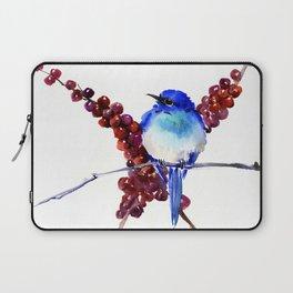 Bird Blue red , Mountain Bluebird adn berries Laptop Sleeve