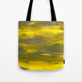 Brushed yellow & grey Tote Bag