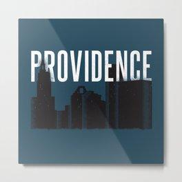 Providence Skyline Metal Print