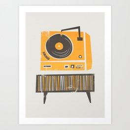 Vinyl Deck Art Print