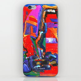 Metropolis Öl auf Leinwand iPhone Skin