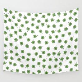 Light Green Clover Wall Tapestry