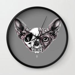 Shynx Half Skull Wall Clock
