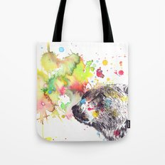 Portrait Of a Grizzly Brown Bear Tote Bag