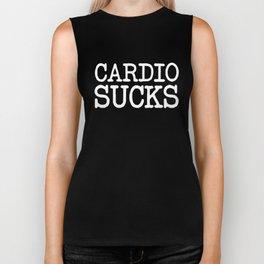 Cardio Sucks Gym Quote Biker Tank
