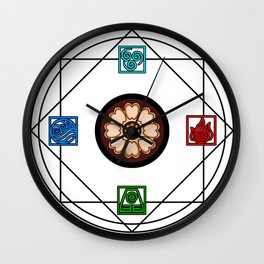 Elemental White Lotus - ATLAS Wall Clock